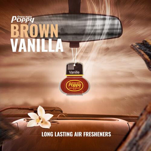 Poppy Hanger Brown Vanilla