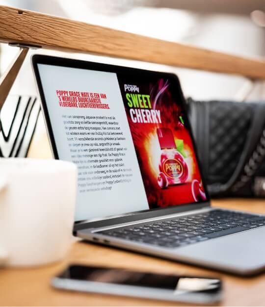 Laptop with Poppy