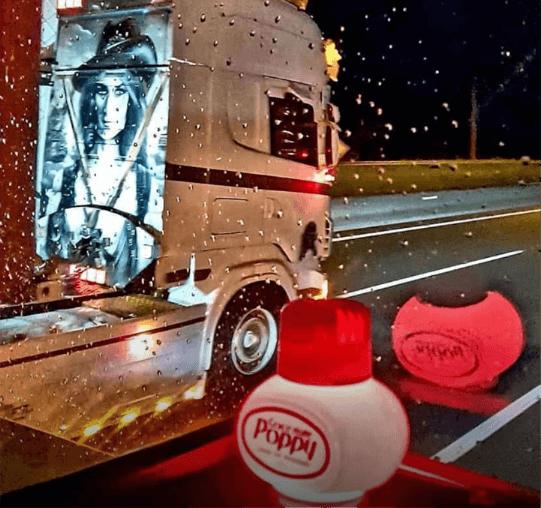 Poppy with truck